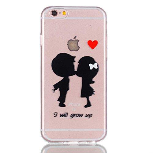 iPhone 6 Plus Hülle,iPhone 6S Plus Schutzhülle, MSK Taschen Schalen Flexible TPU Weiche Rückwärtige Schutzhülle Case Für iPhone 6 Plus & iPhone 6S Plus - elegant #F elegant #D