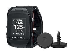 Shot Scope Erwachsene Watch Und Automated Performance Tracking System, Black, One Size