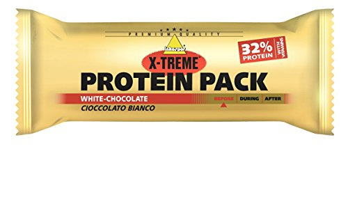 Inkospor X-Treme Protein Pack Riegel, White Chocolate, 24 x - Protein Gainer Bars Weight