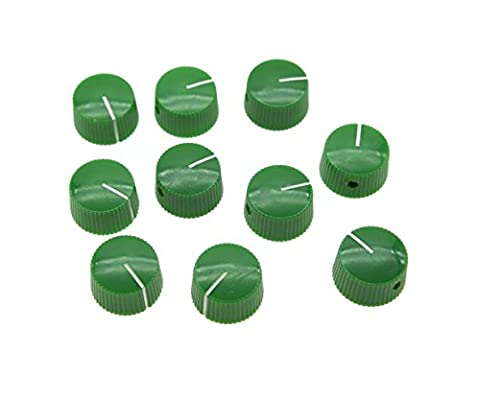 KAISH Pack of 10 Green Vintage Barrel Guitar Amplifier Knob Round Knobs with Set Screw