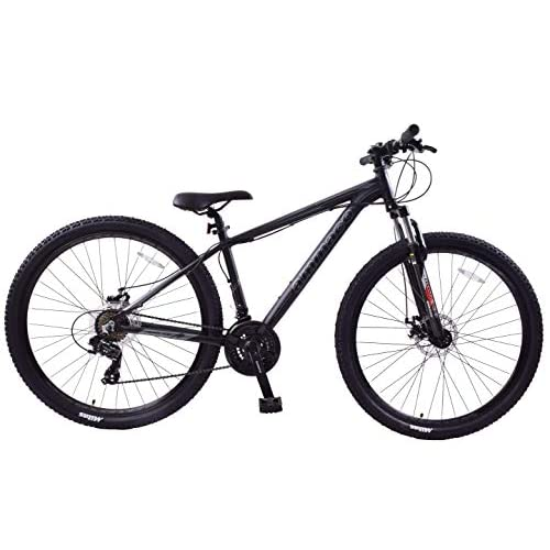"41TKL49kKdL. SS500  - Ammaco. Team 4.0 29"" 29er Mens Mountain Bike Front Suspension Disc Brakes 19"" Frame Alloy Black/Grey"