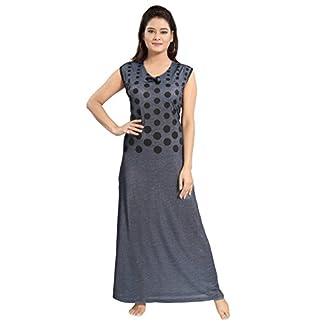 1bac56260 TUCUTE Women Beautiful Grey Sleeveless Nighty Night Gown Night Dress (Size  XL-40   XXL-44)