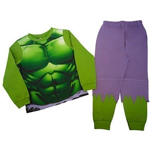 Pijama del increíble Hulk para niños desde 2 a 3 años hasta 7 a 8 años 7