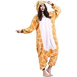 Magicmode Unisex Cosplay Verduras Disfraces De Adultos Pijama Enterizo Sudadera Con Capucha Kigurumi Pijamas Vestido De Fiesta Giraffe M
