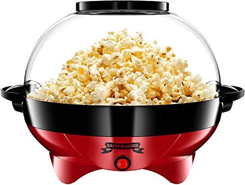 Gadgy ® Machine a Pop Corn l avec Revêtement Anti-adhésif l Silencieux et Rapide l 5 Litres