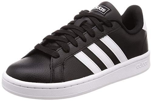 adidas Grand Court, Scarpe da Tennis Uomo, Nero (Negbás Ftwbla 000), 45 1/3 EU