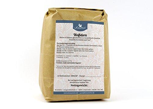 Weißdorn | deutsche Arzneibuch-Qualität (höchste Qualitätsstufe) | Blätter und Blüten geschnitten | ohne Zusätze | Crataegus monogyna | 2000 g [erhältlich von 50 g bis 2 kg] (Hund Herz Tee)