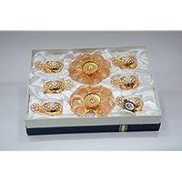GOLDEN STAR Design TURKISH COFFEE SET 6 CUP PLUS 6 PLATE
