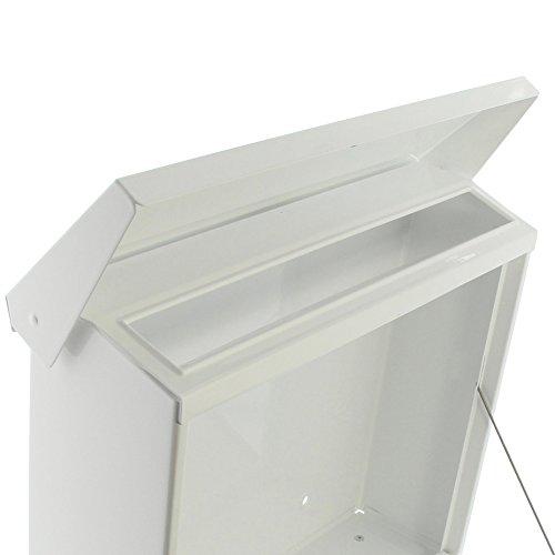 BURG-WÄCHTER, Briefkasten-Set mit Zeitungsbox A4 Einwurf-Format, Verzinkter Stahl, Set Vario W, Weiß - 3