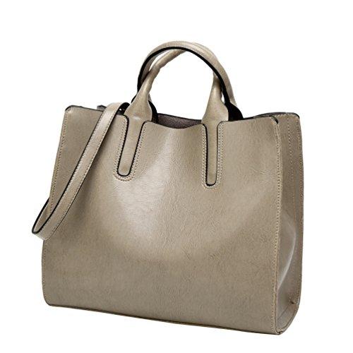 YiLianDa Borse Handbag Bauletto Borsa a Mano da Donna con Tracolla in PU Pelle come immagine(2)