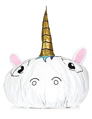 NPW Bonnet de douche fantaisie - Licorne blanche