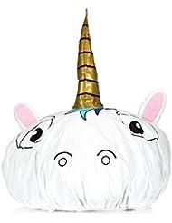 NPW fantaisie Bonnet de douche Chapeau–Blanc Licorne Bonnet de douche