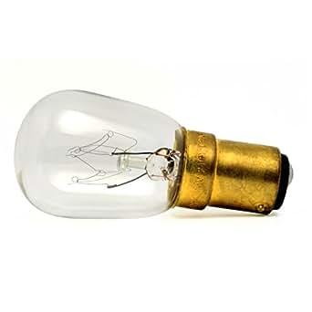 Lot de 20 - Lampe pygmée (pour les appareils) 25W - culot à baïonnette SBC/B15 Ampoule Transparente - Marque Crompton