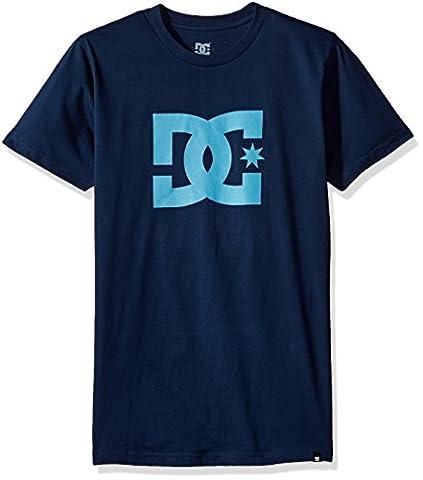 DC mens Star Short Sleeve Logo Tee Shirt Short Sleeve T-Shirt  - blue -