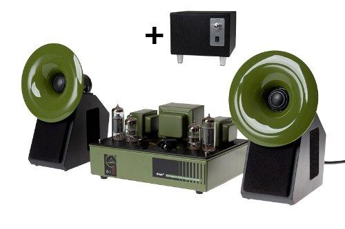 Qinpu Hifi Set: D-1 Bundle - D-1 Röhrenverstärker + S-2 Lautsprecher + SW-5 Subwoofer