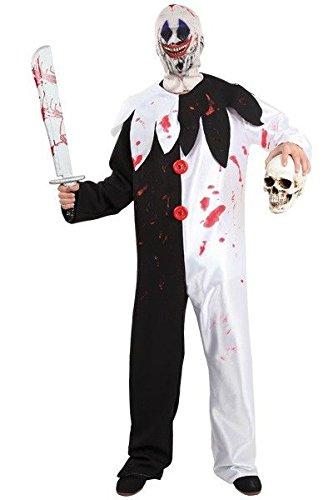 Imagen de disfraz de payaso asesino halloween  único, xl