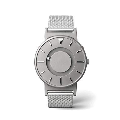 Sallypan Magnetic Touch Watch, Creative Classic Fashion Unisex Parallel Ball Konzept Uhr Edelstahl Mesh Armband,Silver (Für Männer Ball-uhren)