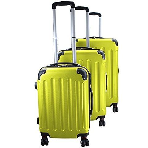 Reise Koffer Trolley ABS Hartschalenkoffer EXPERIENCE 2.0 , Farbe:lime