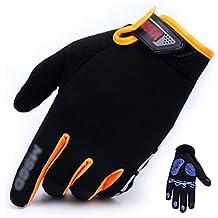 Gloves Ropa al aire libre de pantalla táctil de sección delgada guantes antideslizantes transpirables que montan la comodidad del montañismo (Color : D, Tamaño : Metro)