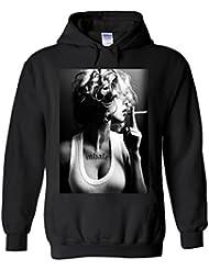 Sexy Smoking Inhale Girl Novelty White Femme Homme Men Women Unisex Sweat à Capuche Hooded Sweatshirt Hoodie