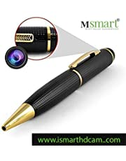 Machsmart 1080p Golden HD Pen Camera,64GB SD Card Support(not Included), 2 Mode Recording (HD Photo & Video), Free Card Reader & OTG Cable.