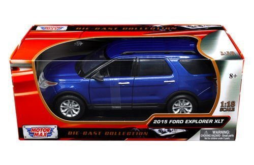 new-118-w-b-motor-max-collection-blue-2015-ford-explorer-xlt-suv-diecast-model-car-by-motor-max-by-m