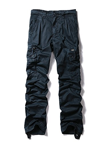 MUST WAY Herren Chino Hose Gr. 94, königsblau (Fit Chino-hose Relaxed Pleated)