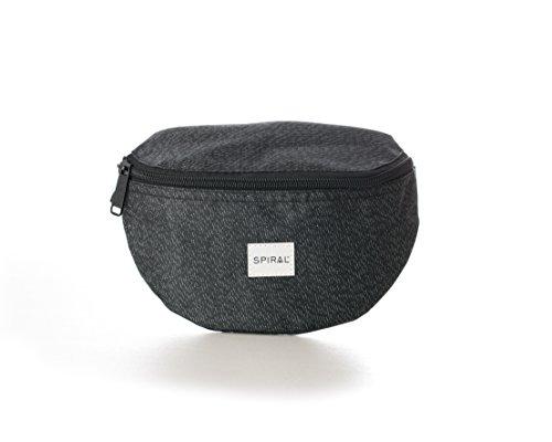 Spiral Nightrunner Bum Bag Sac Banane Sport, 24 cm, 3 liters, Noir (Black)