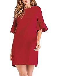 Vestido Mujer Moda Fiesta Noche 2018, Zolimx Vestido Largo Sin Tirantes de Gasa de Impresión