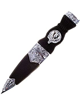 Gents Imitation Sgian Dubh With Thistle Crest Design In Chrome Style
