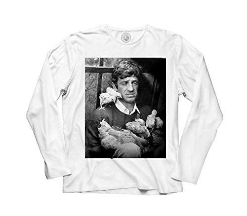 Fabulous T-shirt Man Long sleeve t-shirt jean paul belmondo cociara The two women black and white film