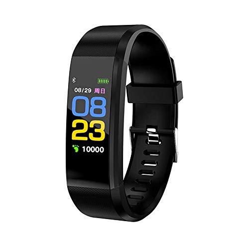 Fitness Tracker Armband GPS mit echtem Pulsmesser, Schrittzähler, Kalorienverbrauch, Schlafmonitor und Blutdruck-Messung. IP67 Fitness-Trackers sind wasserdicht für Damen, Herren und Kinder (schwarz)