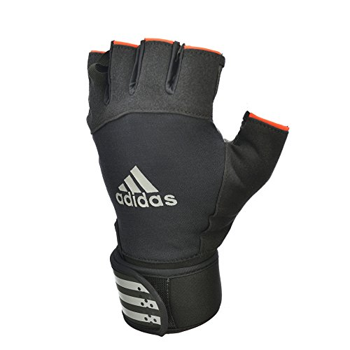 adidas Weightlifting Guantes de Pesas, Unisex Adulto,Color: Negro con Blanco, Talla del manufacturier: XL