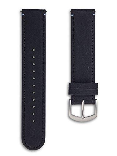 Lilienthal Berlin - Made in Germany - Uhrenarmband, vegetabil gegerbtes Leder L1 (Farbe: schwarz /