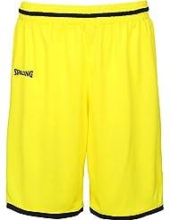 Spalding Move Pantalones Cortos Amarillo de baloncesto para niños, color limonengelb / schwarz, tamaño 4XL