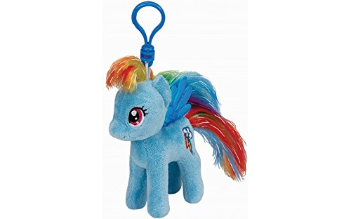 TY Mein kleines Pony RAINBOW DASH, Clip für Schlüssel (Dash Rainbow Plüsch)