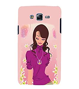 Peaceful Girly Design 3D Hard Polycarbonate Designer Back Case Cover for Samsung Galaxy J7 (2015) :: Samsung Galaxy J7 J700F (Old Version)