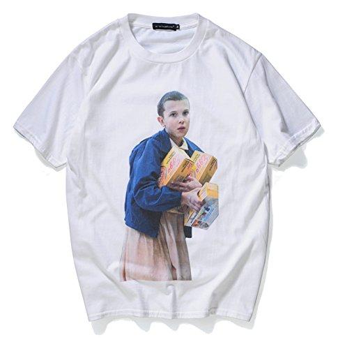Pizoff t-shirt stranger things streetwear stampa serie tv film divertente oversize unisex cotone