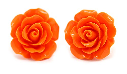 bluebubble-english-rose-22mm-citrus-orange-carved-rose-stud-earrings-with-free-gift-box