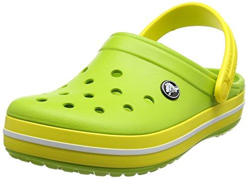 crocs Unisex-Erwachsene Crocband Clogs Grün (Volt Green/Lemon)