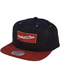 more photos 463a4 5178d Mitchell   Ness Adjustable Black Red Snapback