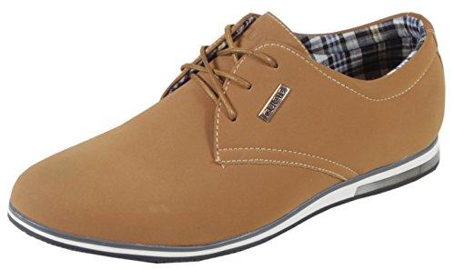 trendBOUTIQUE , Chaussures de ville à lacets pour homme Marron - NubukLook Camelbraun