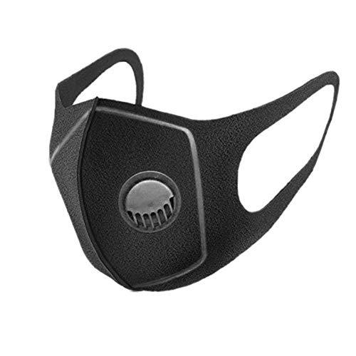 SJWWJK Mund Maske 3 Stücke Mund Maske Anti Staub Doppelschicht Anti-Fog Pm2.5 Entlüftungsventil Schwamm Gaze Maske Gesichtsmaske Für Außenreit , 1 -