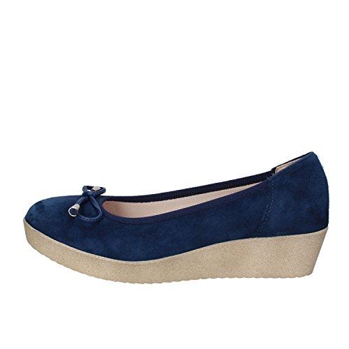 GRUNLAND ballerine donna blu camoscio AE03 (36 EU)