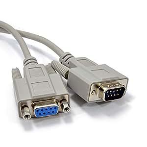 Serie RS232 d'extension Rallonge câble DB9M Vers F 9 Broches Mâle Vers Femelle 10 m Beige
