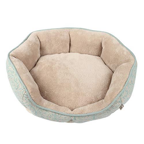 SHIZHESHOP Vier Jahreszeiten Universal Kennel Indoor Warm Jacquard Heimtierbedarf Kleine und Mittlere Kennel Matten können Nicht in der Matte entfernt Werden (Color : Green) -
