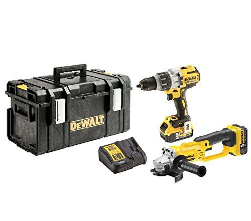 Dewalt due di Combo Pack 18V/5AH, 1pezzi, giallo, nero, argento, dck278p2QW