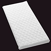 Baby Infant COT Swinging CRIB Foam MATTRESS 89 x 40 x 4 CM Water-Resistant (Square Corners) Bluemoon