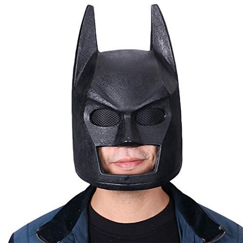 GanSouy Batman v Superman: Morgendämmerung der Gerechtigkeit, Batman-Maske, Batman-Helm, Cosplay-Maske - Perfekt für Karneval und Halloween - Kostüm für Erwachsene - PVC, Herren,Batman-59cm~63cm