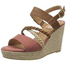s.Oliver Women's 5-5-28302-34 Ankle Strap Sandals, Pink Mauve Cognac 535, 4 UK